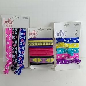 Belle Kids Headwraps, Poney O's and Hair Ties